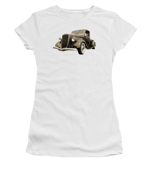 1936 Ford V8 In Sepia Women's T-Shirt