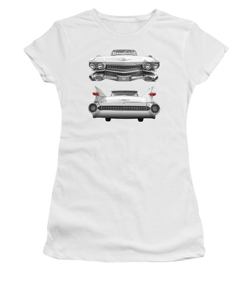 1959 Cadillac Front And Rear Vertical Women's T-Shirt