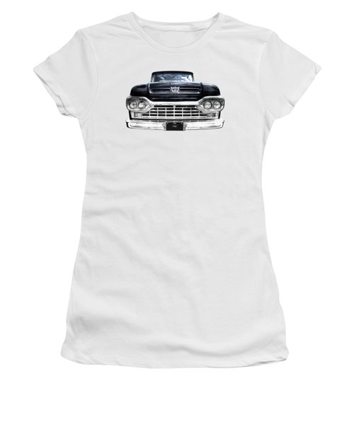 1960 Ford F100 Pick Up Head On Women's T-Shirt
