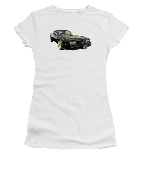 1976 Trans Am Black And Gold Women's T-Shirt