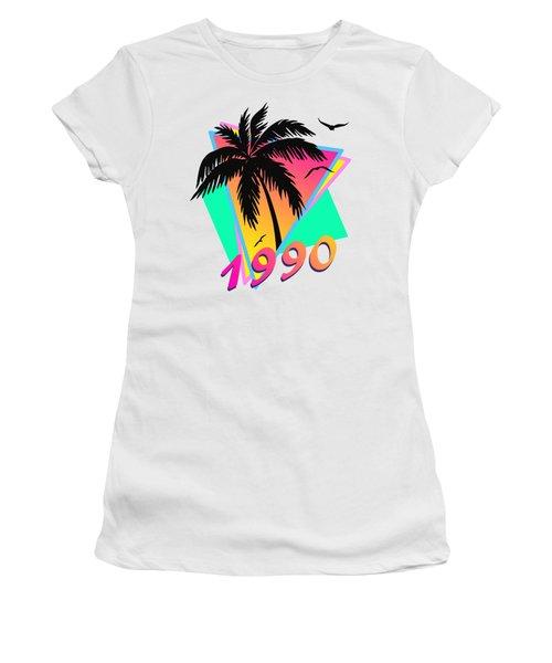1990 Cool Tropical Sunset Women's T-Shirt