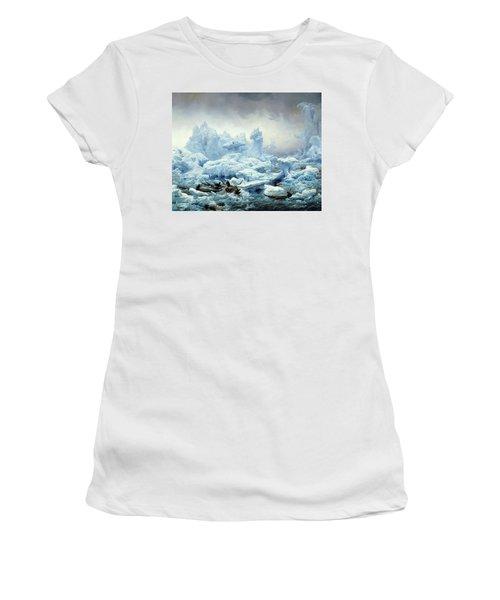 Fishing For Walrus In The Arctic Ocean Women's T-Shirt
