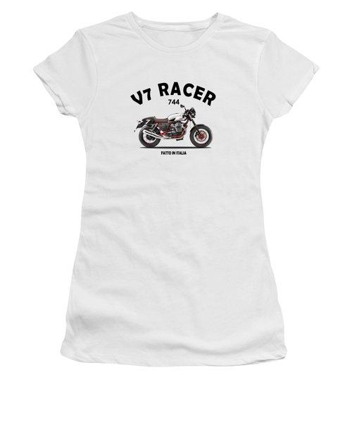 Moto Guzzi V7 Racer Women's T-Shirt (Athletic Fit)