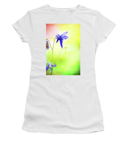 Painted Purple Columbine 2 Women's T-Shirt