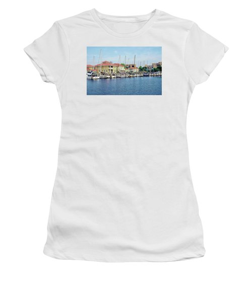 Women's T-Shirt (Athletic Fit) featuring the photograph Port Royal by Anthony Dezenzio