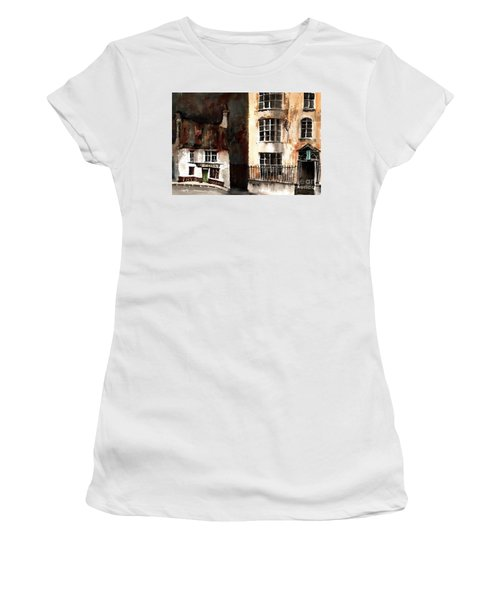 Women's T-Shirt featuring the painting 305 Frys Chochies In Killarney, Co. Kerry by Val Byrne