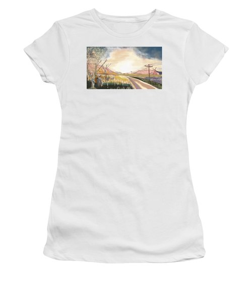 A Country Road And A Tree Women's T-Shirt
