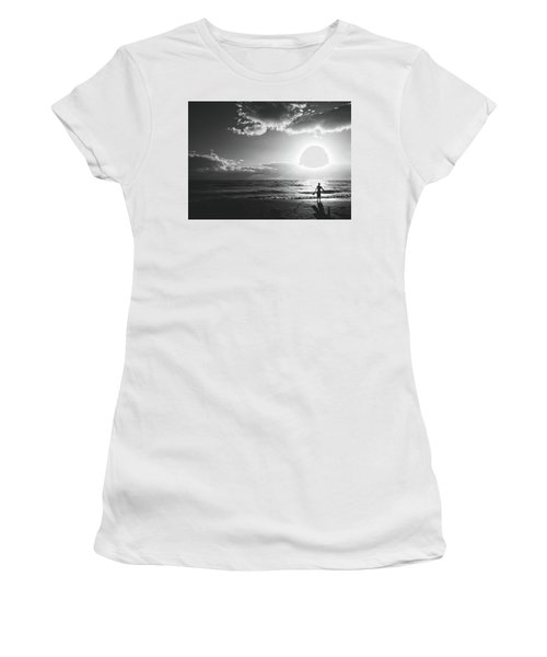 A Day Of Surfing Begins Women's T-Shirt