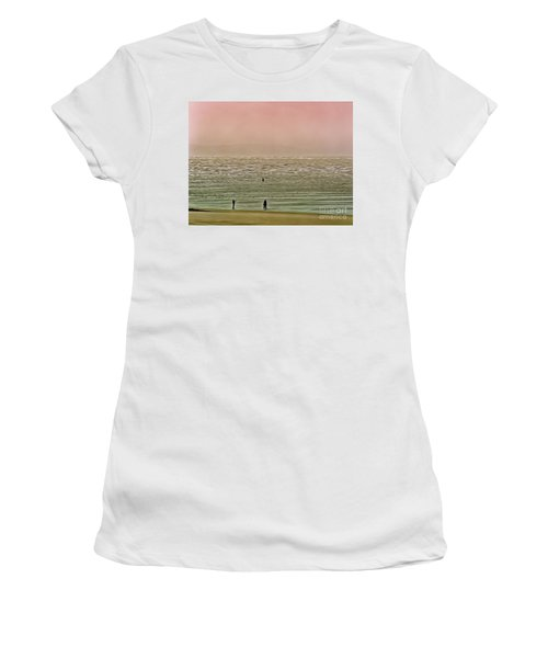 Women's T-Shirt featuring the photograph A Distant Shore by Leigh Kemp