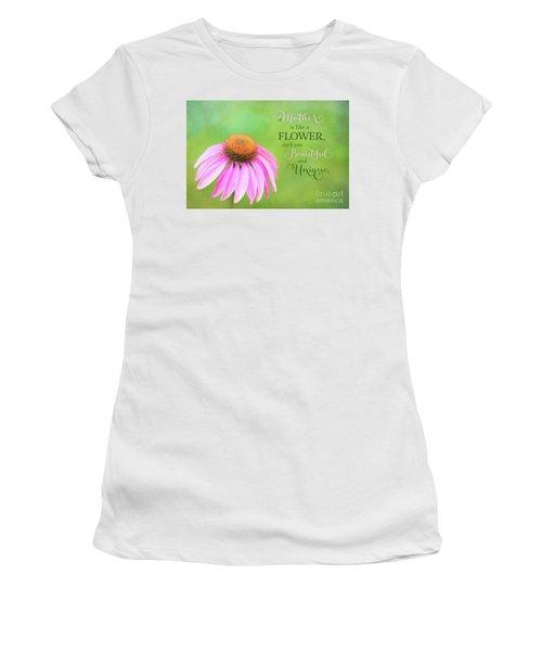 A Mother Is Lke A Flower Women's T-Shirt