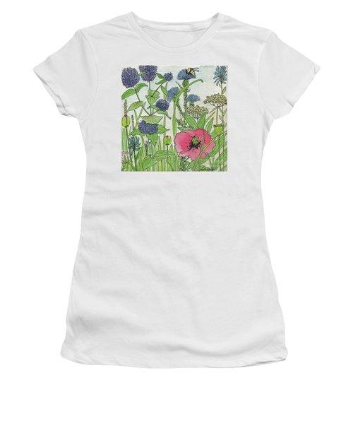 A Single Poppy Wildflowers Garden Flowers Women's T-Shirt