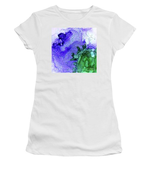 Women's T-Shirt featuring the painting Abstract Ink 28 by Amy E Fraser