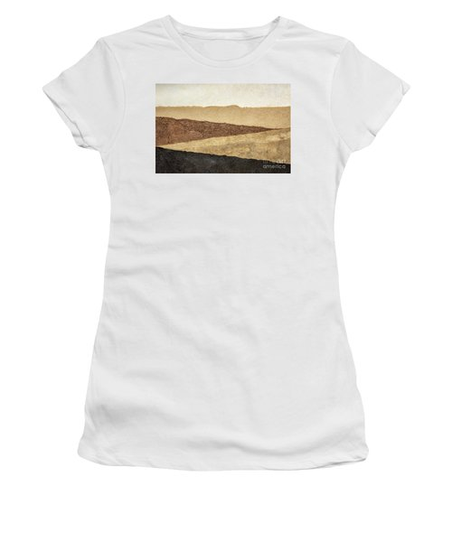 Abstract Landscape In Earth Tones Women's T-Shirt