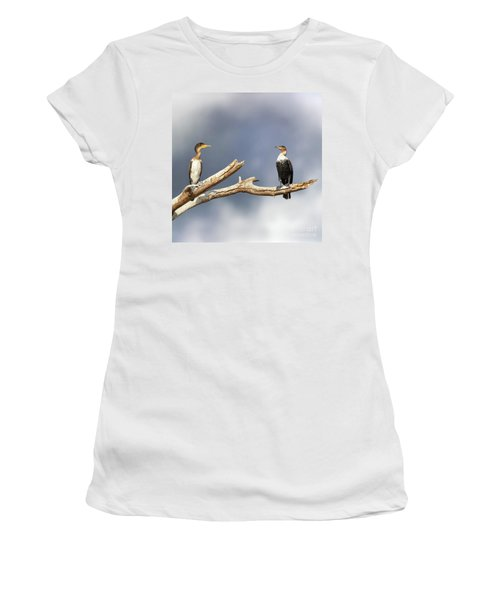 Adult And Juvenile Cormorants At Lake Naivasha Women's T-Shirt