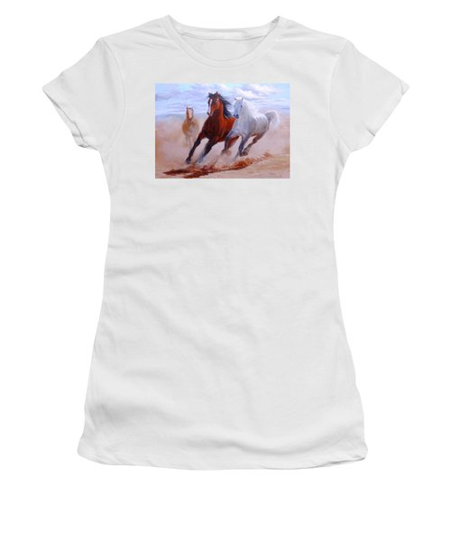 Adventurous Horses Women's T-Shirt