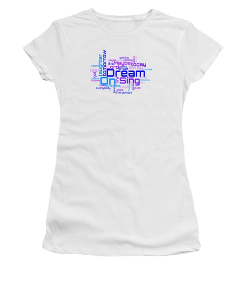 Aerosmith - Dream On Lyrical Cloud Women's T-Shirt
