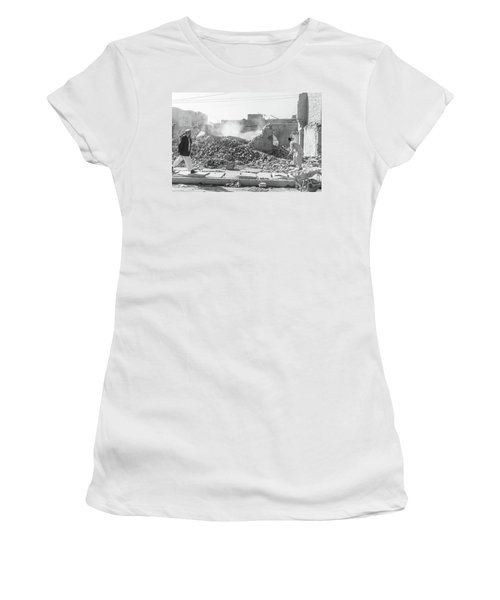 Women's T-Shirt (Athletic Fit) featuring the photograph After The Collapse by SR Green