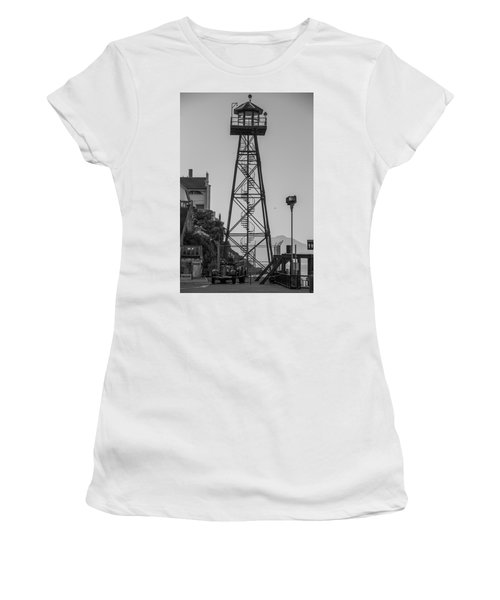 Alcatraz Light House Women's T-Shirt (Athletic Fit)