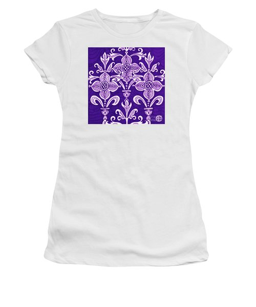 Women's T-Shirt featuring the painting Alien Bloom 21 by Amy E Fraser