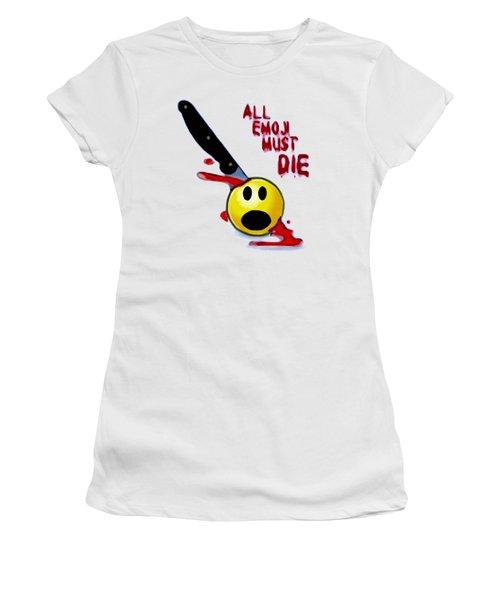 All Emoji Must Die Women's T-Shirt (Athletic Fit)