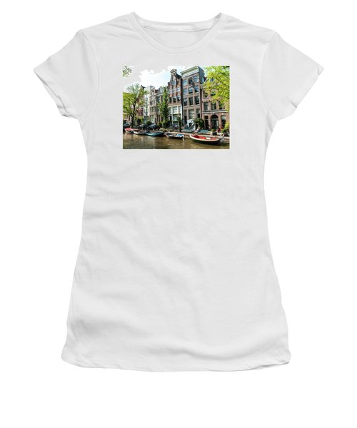 Along An Amsterdam Canal Women's T-Shirt