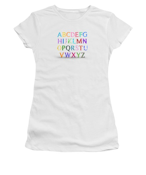 Alphabet Flowering Floral Array Women's T-Shirt