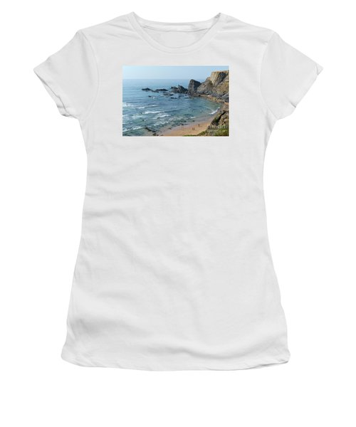 Amalia Beach From Cliffs Women's T-Shirt