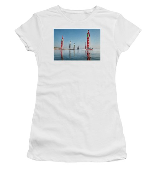 America Cup Boat Reflections Women's T-Shirt