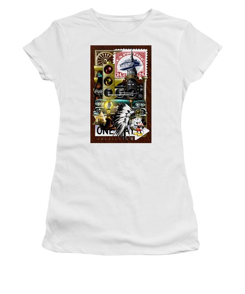Women's T-Shirt featuring the drawing Americana by Clint Hansen