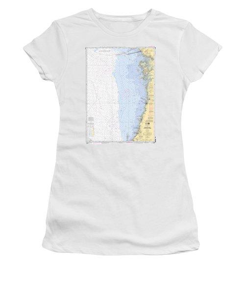 Anclote Keys To Crystal River Noaa Nautical Chart 11409 Women's T-Shirt