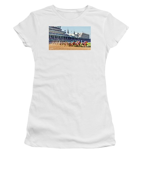 Around The First Turn Women's T-Shirt
