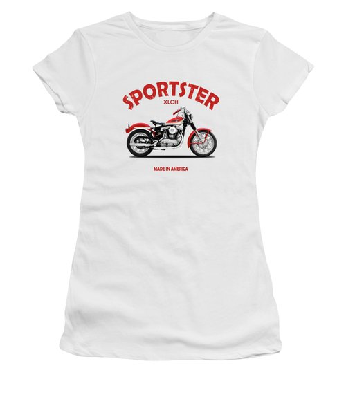 The Vintage Sportster Motorcycle Women's T-Shirt
