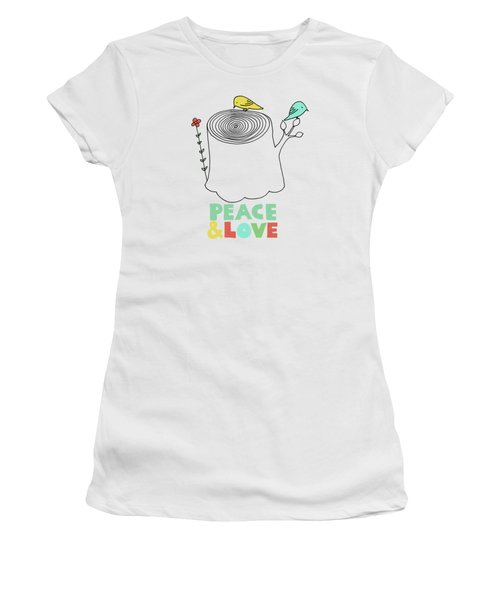 Peace And Love Women's T-Shirt