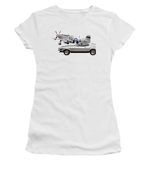 Mach 1 Mustang With P51  Women's T-Shirt
