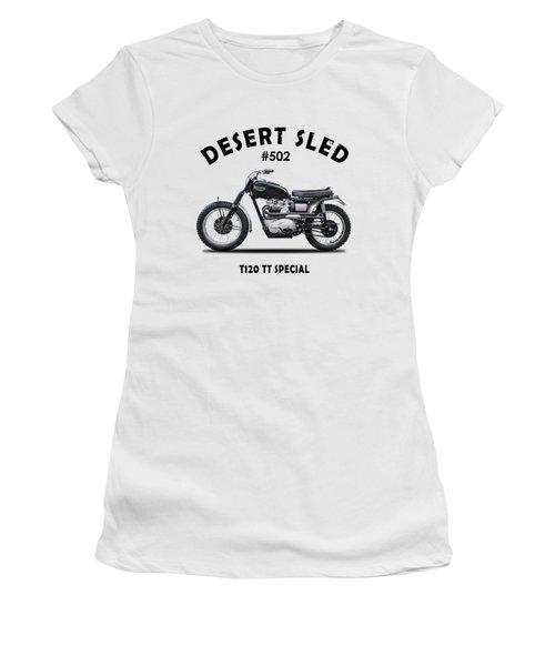 Desert Sled Motorcycle Number 502 Women's T-Shirt