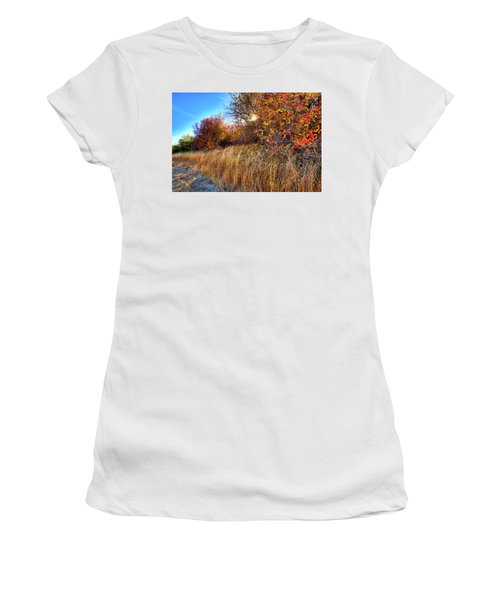 Women's T-Shirt featuring the photograph Autumn At Magpie Forest by David Patterson