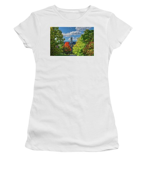 Women's T-Shirt (Athletic Fit) featuring the photograph Autumn Beauty At Cornell University - Ithaca, New York by Lynn Bauer
