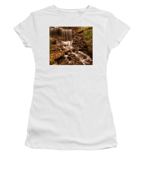 Women's T-Shirt (Athletic Fit) featuring the photograph Autumn Foliage At West Milton by Dan Sproul