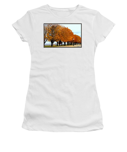 Autumn Leaves In Menominee Michigan Women's T-Shirt