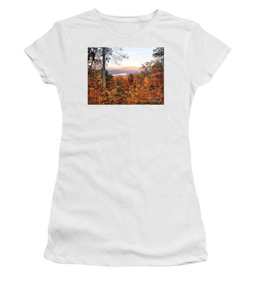 Women's T-Shirt (Athletic Fit) featuring the photograph Autumn Magic by Rachel Hannah