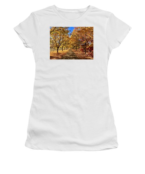 Autumn Road Women's T-Shirt