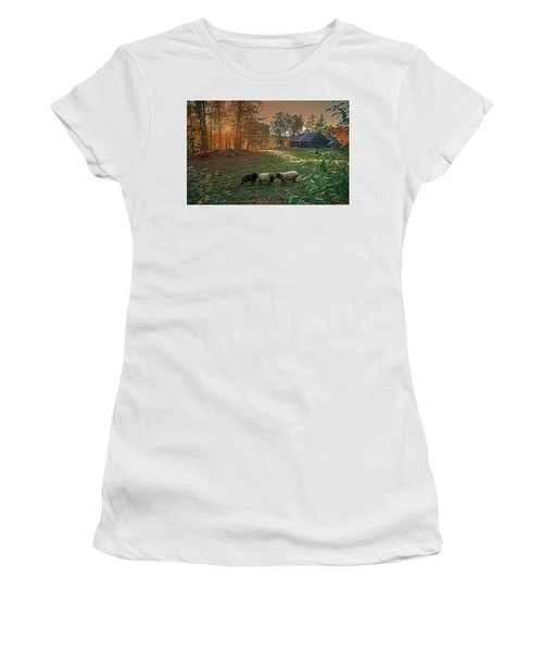 Autumn Sunset At The Old Farm Women's T-Shirt