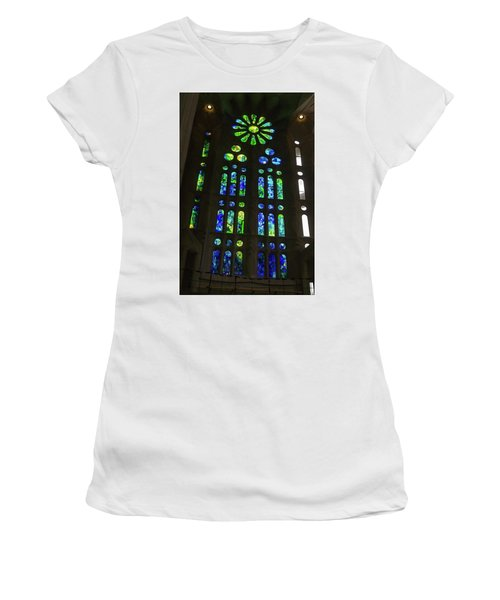 Awesome Light - Sagrada Familia Basilica Barcelona Women's T-Shirt
