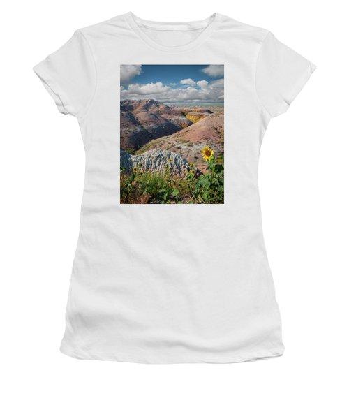 Badlands Sunflower - Vertical Women's T-Shirt