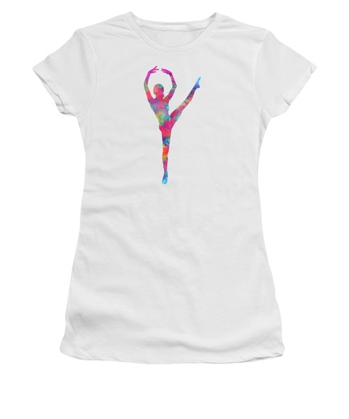 Women's T-Shirt featuring the digital art Ballet Canvas Print, Photographic Print, Art Print, Framed Print, Greeting Card, Iphone Case, by David Millenheft
