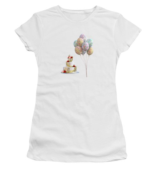 Balloons And Cake Women's T-Shirt
