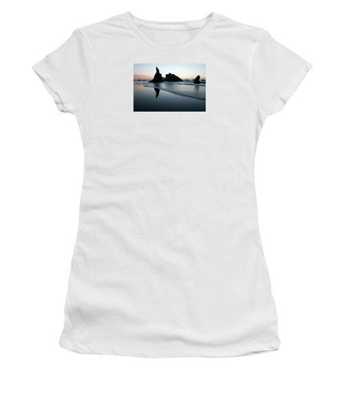 Women's T-Shirt (Athletic Fit) featuring the photograph Bandon By The Sea 102018 by Rospotte Photography
