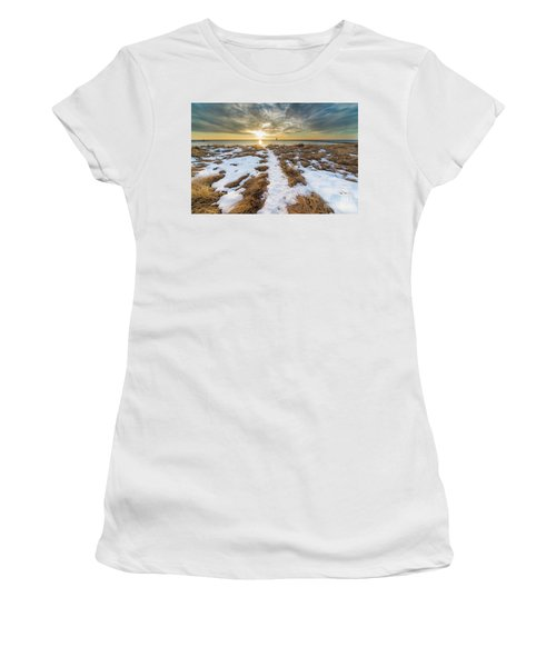 Beach In Frankfort In January Women's T-Shirt