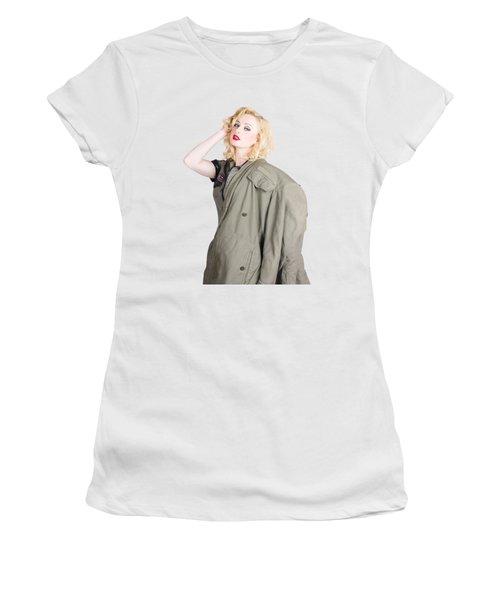 Beautiful Young 1940s Retro Style War Pinup Women's T-Shirt