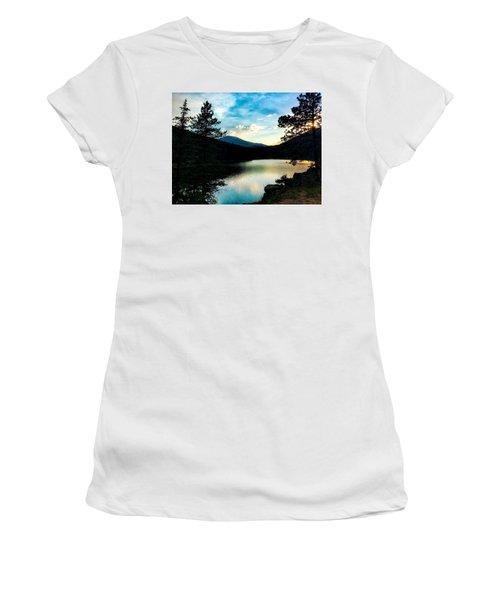 Women's T-Shirt featuring the photograph Beaver Brook Lake by Dan Miller